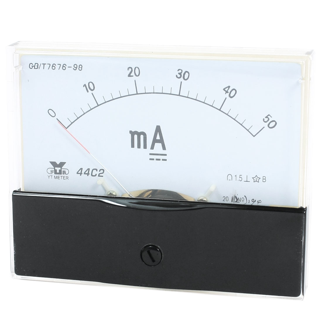 Measurement Tool Analog Panel Ammeter Gauge Tester DC 0 - 50mA Measuring Range 44C2