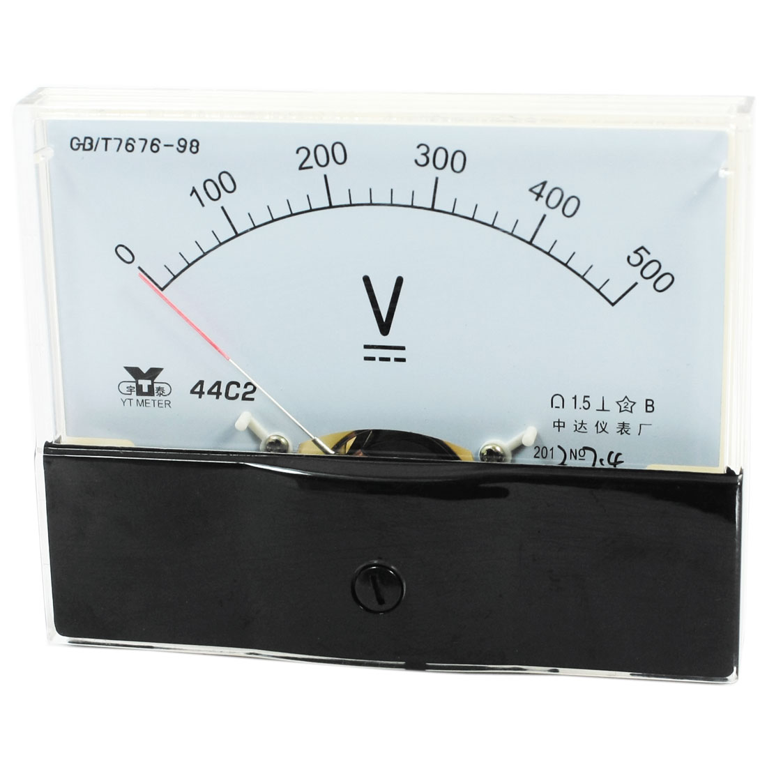 44C2 Rectangle Measurement Tool Analog Panel Voltmeter Volt Meter DC 0 - 500V Measuring Range