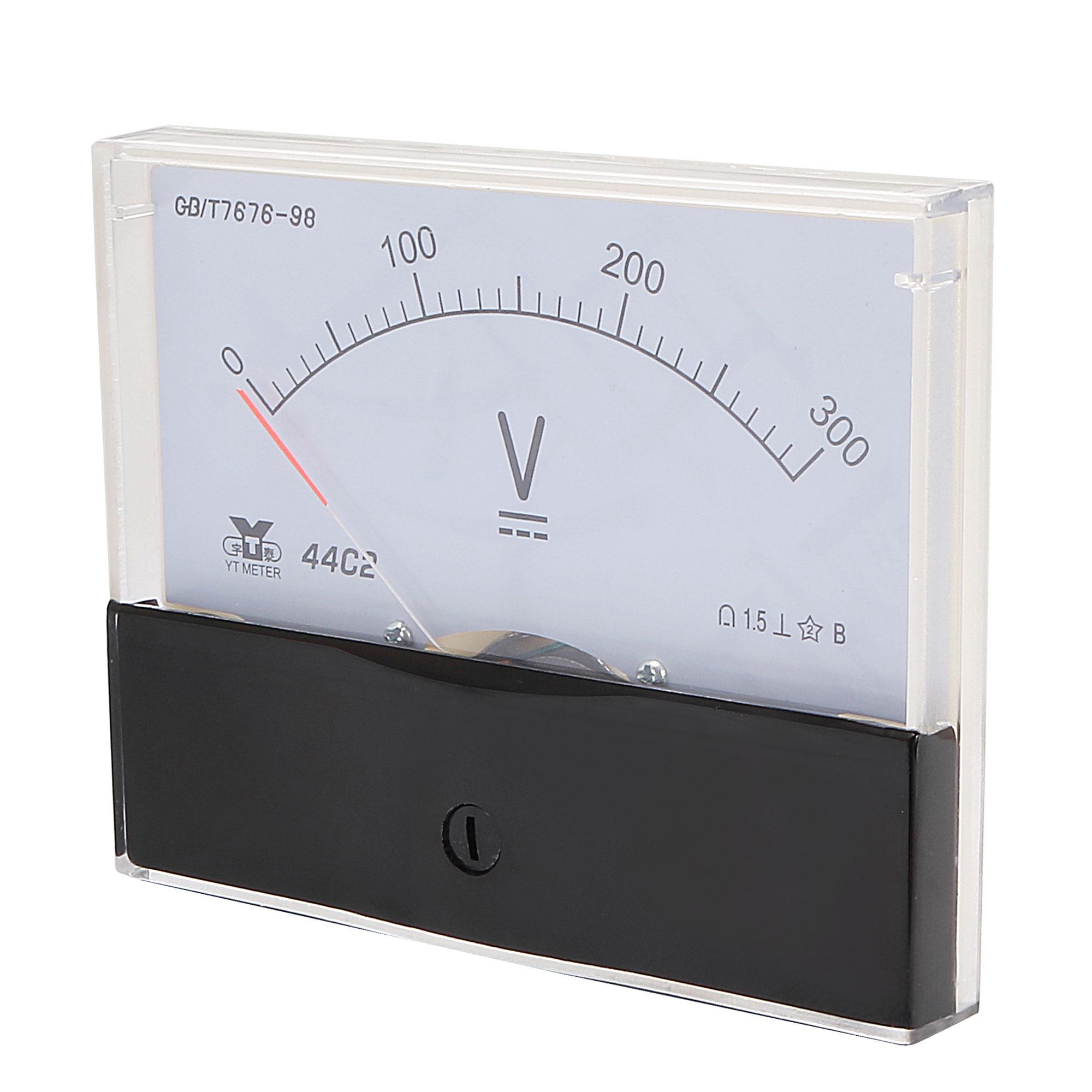 Rectangle Measurement Tool Analog Panel Voltmeter Volt Meter DC 0 - 300V Measuring Range 44C2