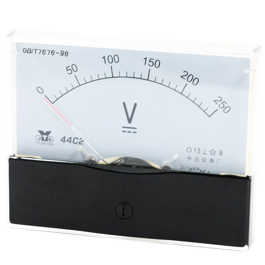 Rectangle Measurement Tool Analog Panel Voltmeter Volt Meter DC 0 - 250V Measuring Range 44C2