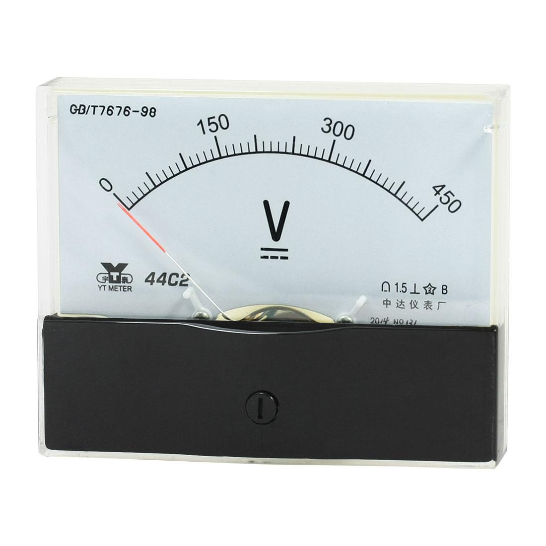 Rectangle Measurement Tool Analog Panel Voltmeter Volt Meter DC 0 - 450V Measuring Range 44C2