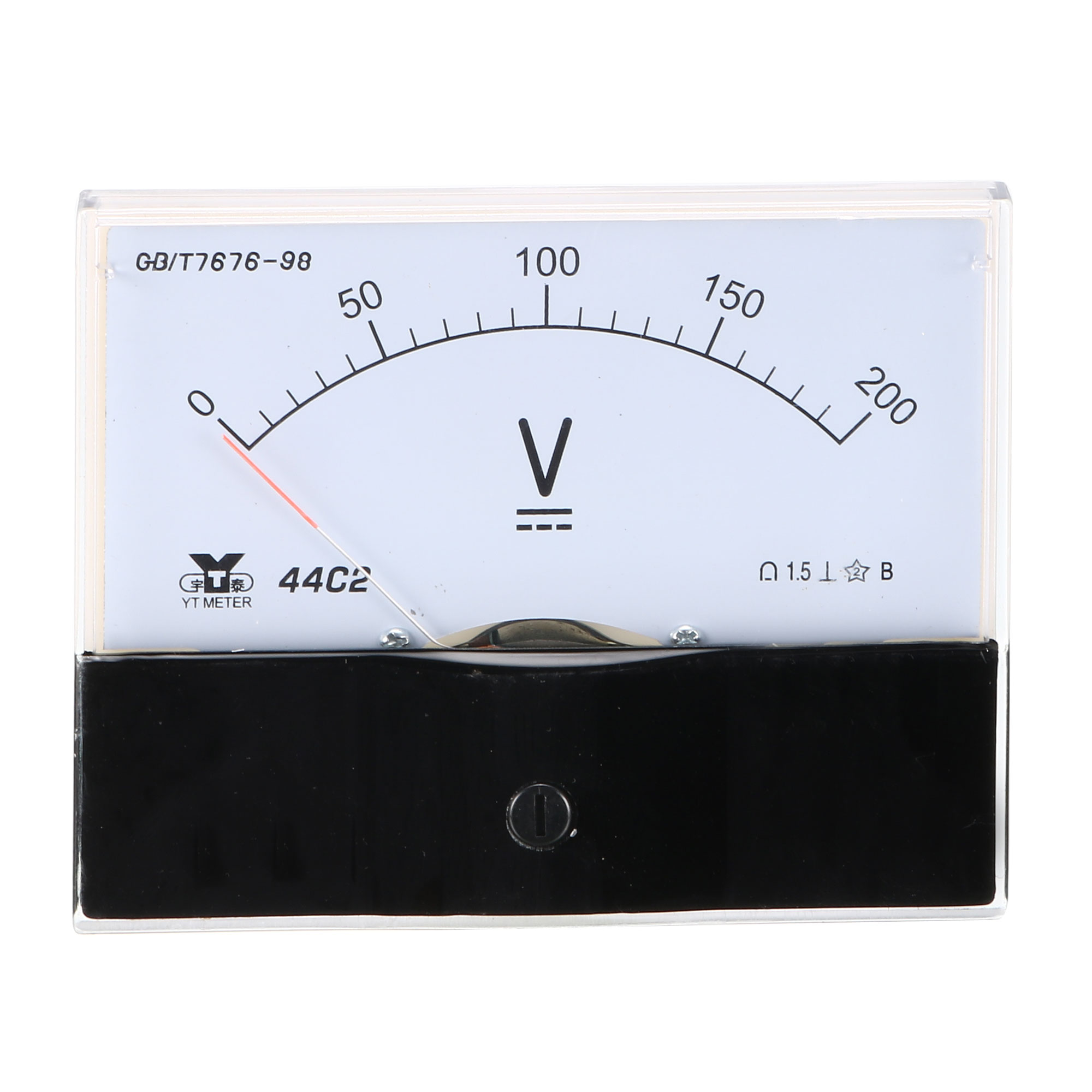 Rectangle Measurement Tool Analog Panel Voltmeter Volt Meter DC 0 - 200V Measuring Range 44C2