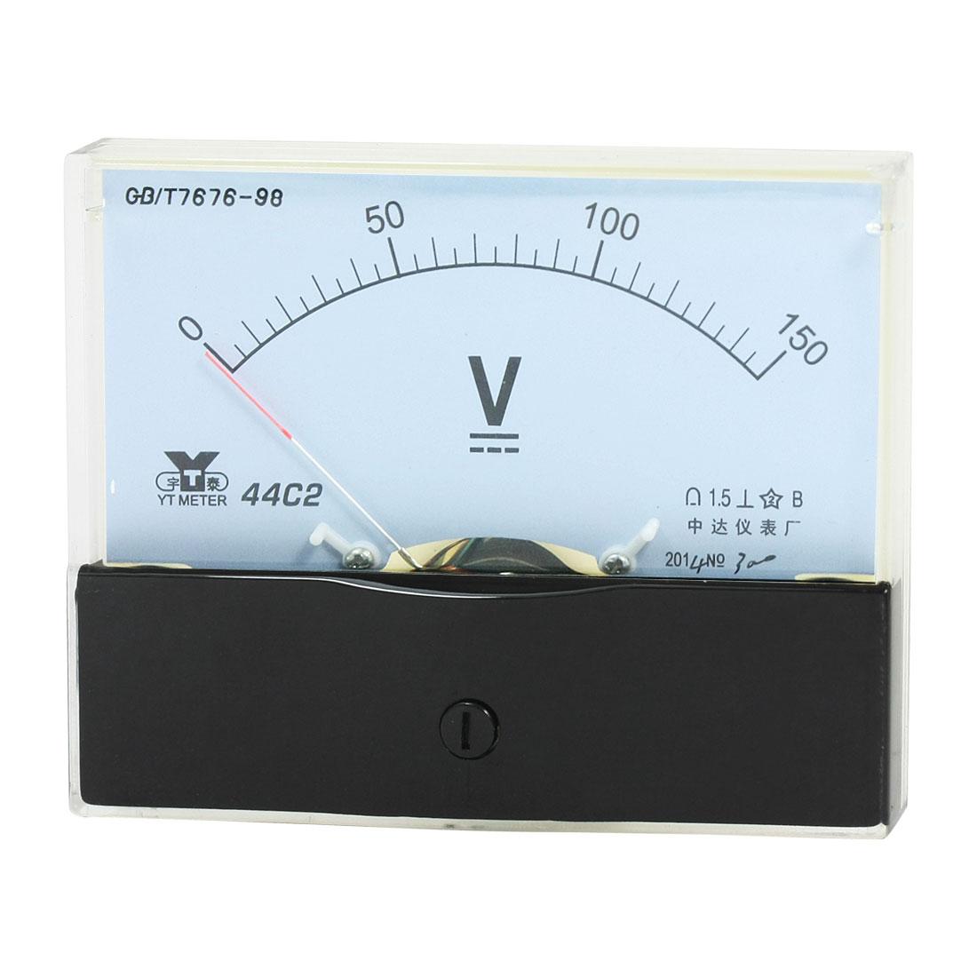 Rectangle Measurement Tool Analog Panel Voltmeter Volt Meter DC 0 - 150V Measuring Range 44C2