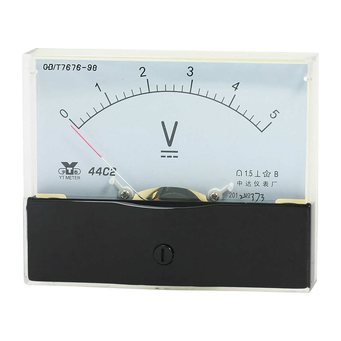 Rectangle Measurement Tool Analog Panel Voltmeter Volt Meter DC 0 - 5V Measuring Range 44C2