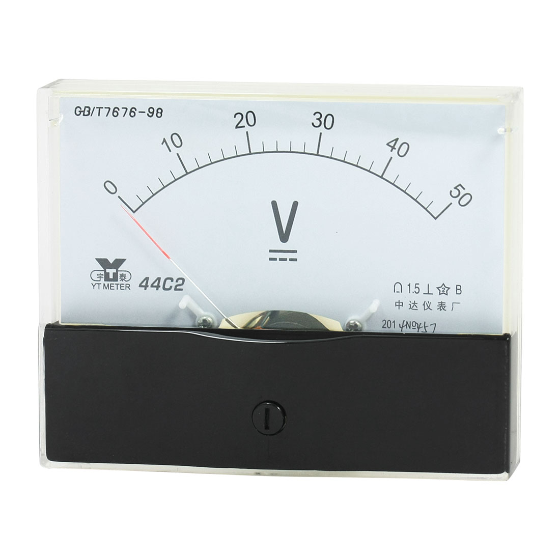 Rectangle Measurement Tool Analog Panel Voltmeter Volt Meter DC 0 - 50V Measuring Range 44C2