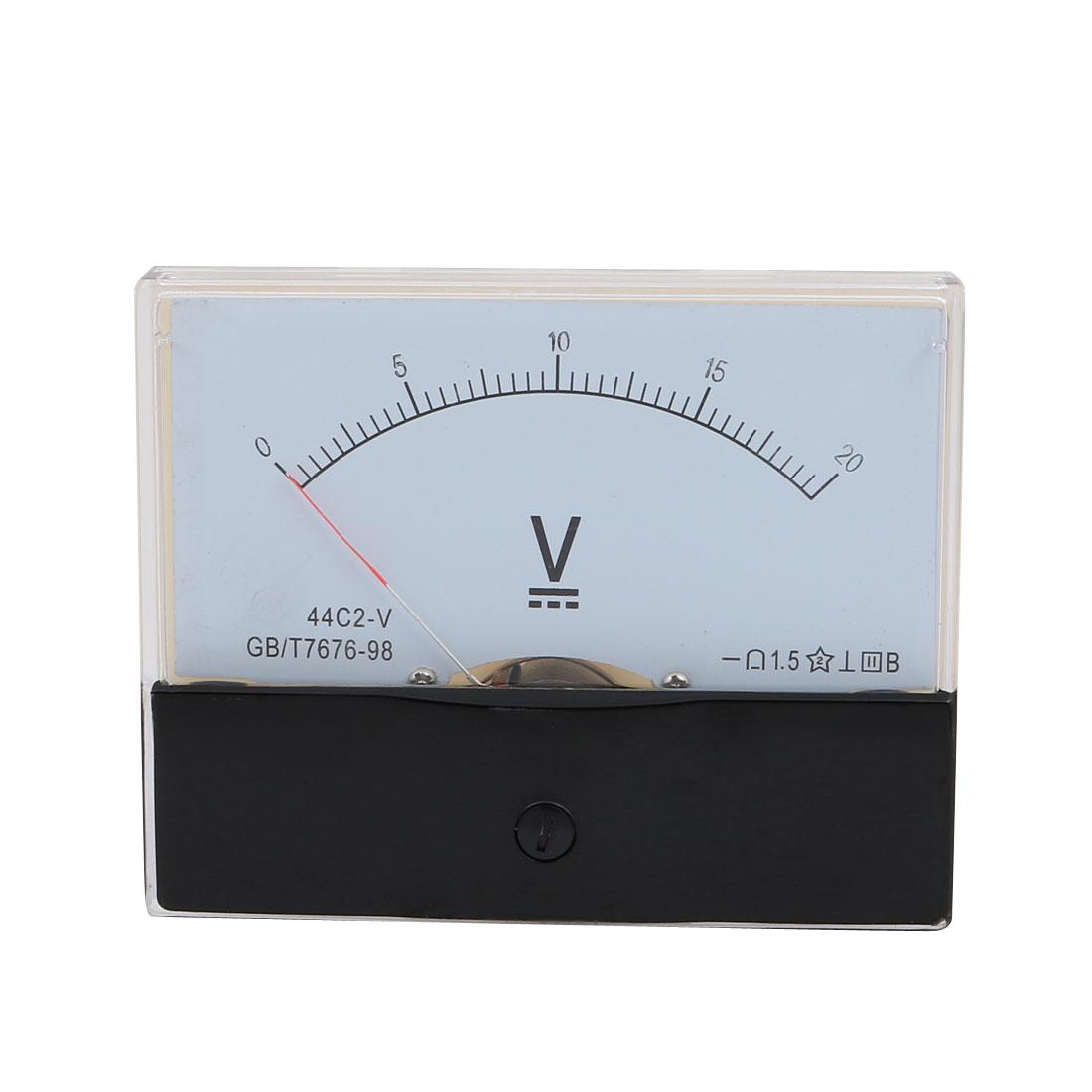 Rectangle Measurement Tool Analog Panel Voltmeter Volt Meter DC 0 - 20V Measuring Range 44C2