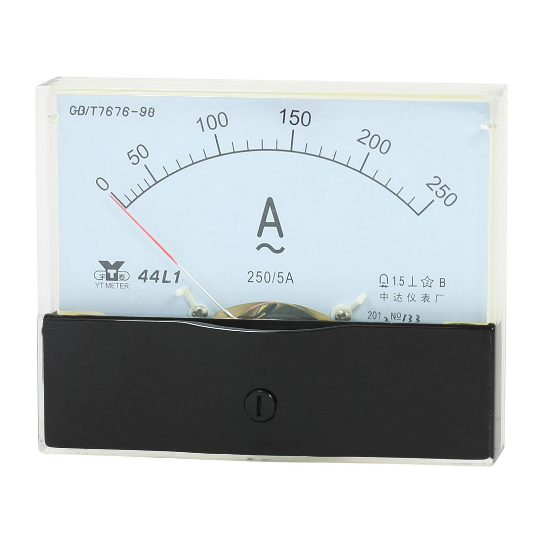 Measurement Tool Panel Mount Analog Ammeter Gauge AC 0 - 250A Measuring Range 44L1