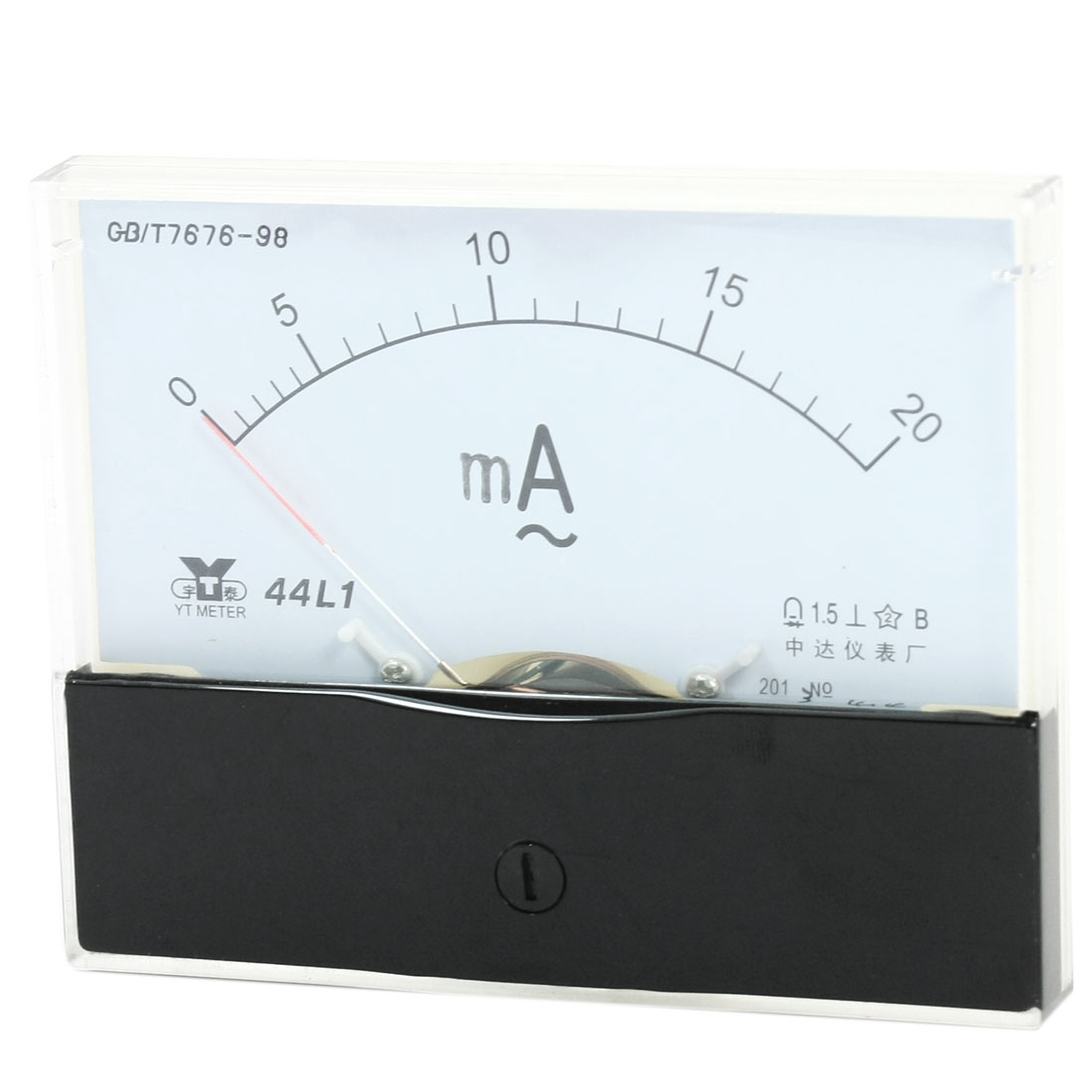 Rectangle Measurement Tool Analog Panel Ammeter Gauge AC 0 - 20mA Measuring Range 44L1
