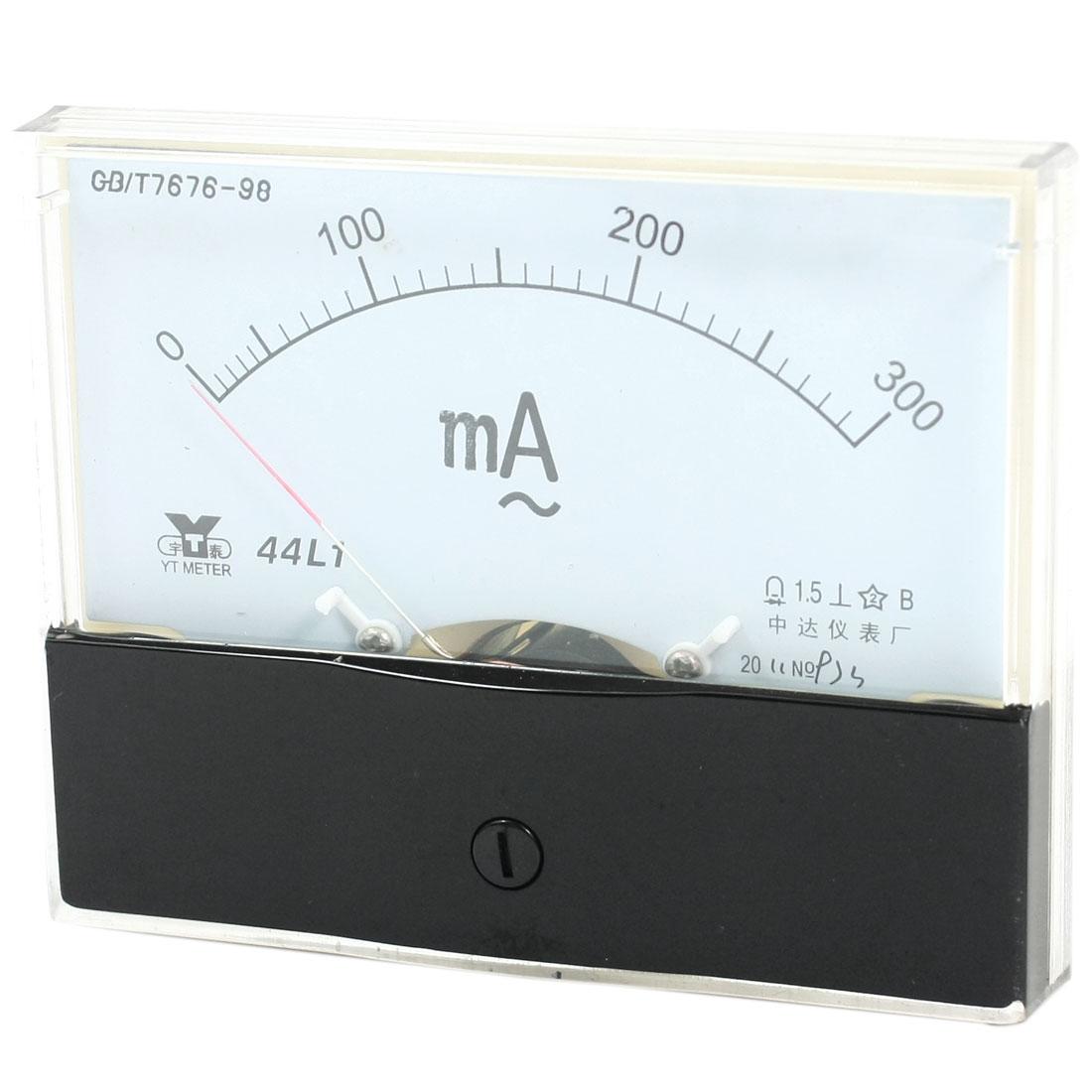 Measurement Tool Panel Mount Analog Ammeter Gauge AC 0 - 300mA Measuring Range 44L1