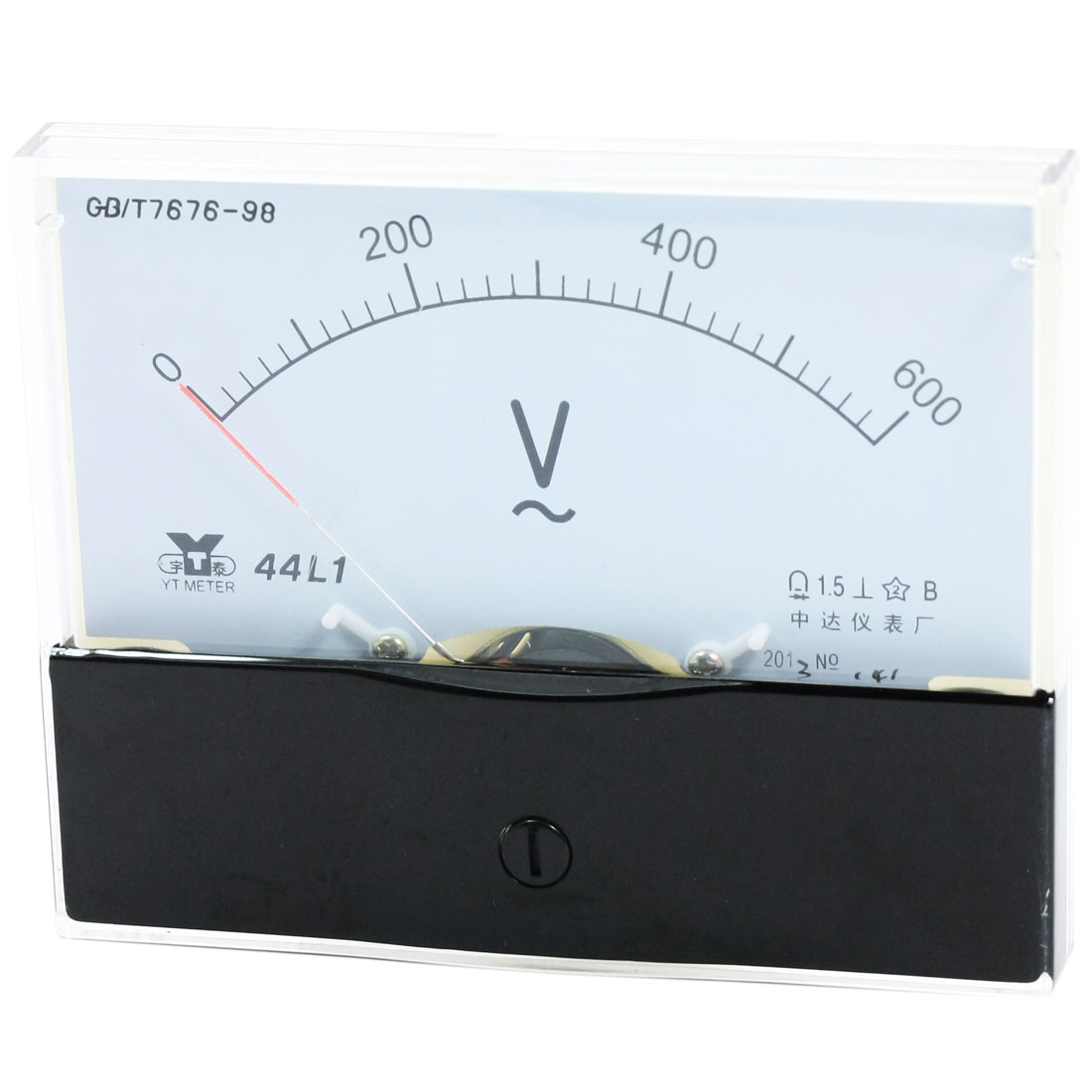 Rectangle Measurement Tool Analog Panel Voltmeter Volt Meter AC 0-600V Measuring Range 44L1