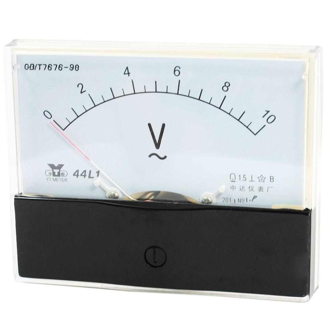 Rectangle Measurement Tool Analog Panel Voltmeter Volt Meter AC 0 - 10V Measuring Range