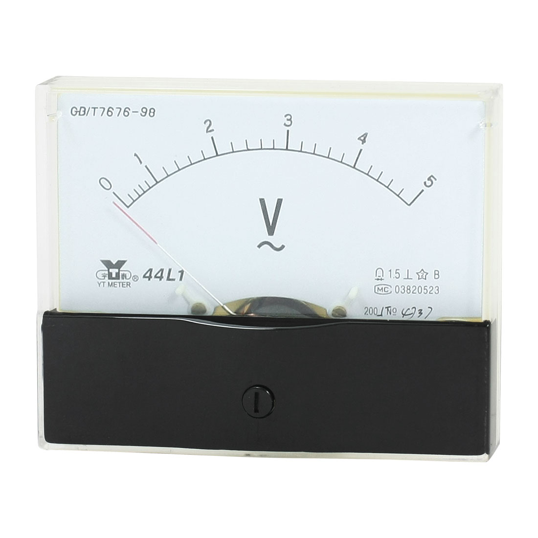 Rectangle Measurement Tool Analog Panel Voltmeter Volt Meter AC 0 - 5V Measuring Range 44L1