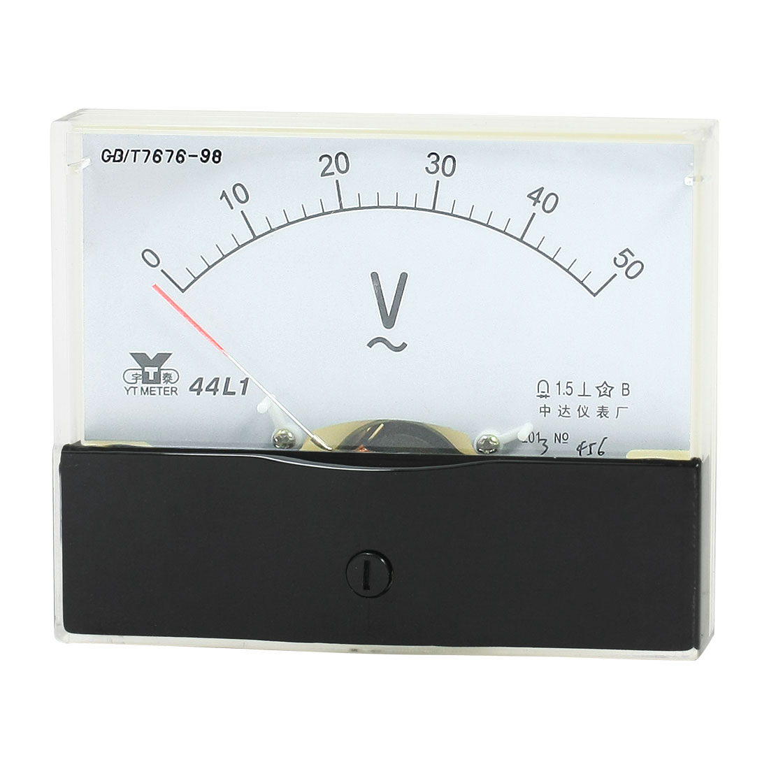 Rectangle Measurement Tool Analog Panel Voltmeter Volt Meter AC 0 - 50V Measuring Range 44L1