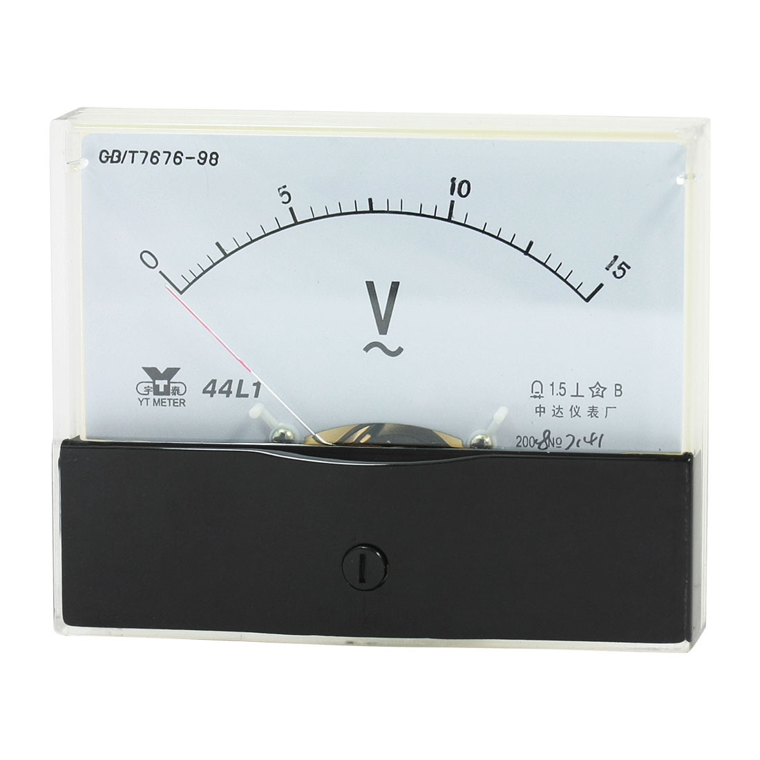 Rectangle Measurement Tool Analog Panel Voltmeter Volt Meter AC 0 - 15V Measuring Range 44L1