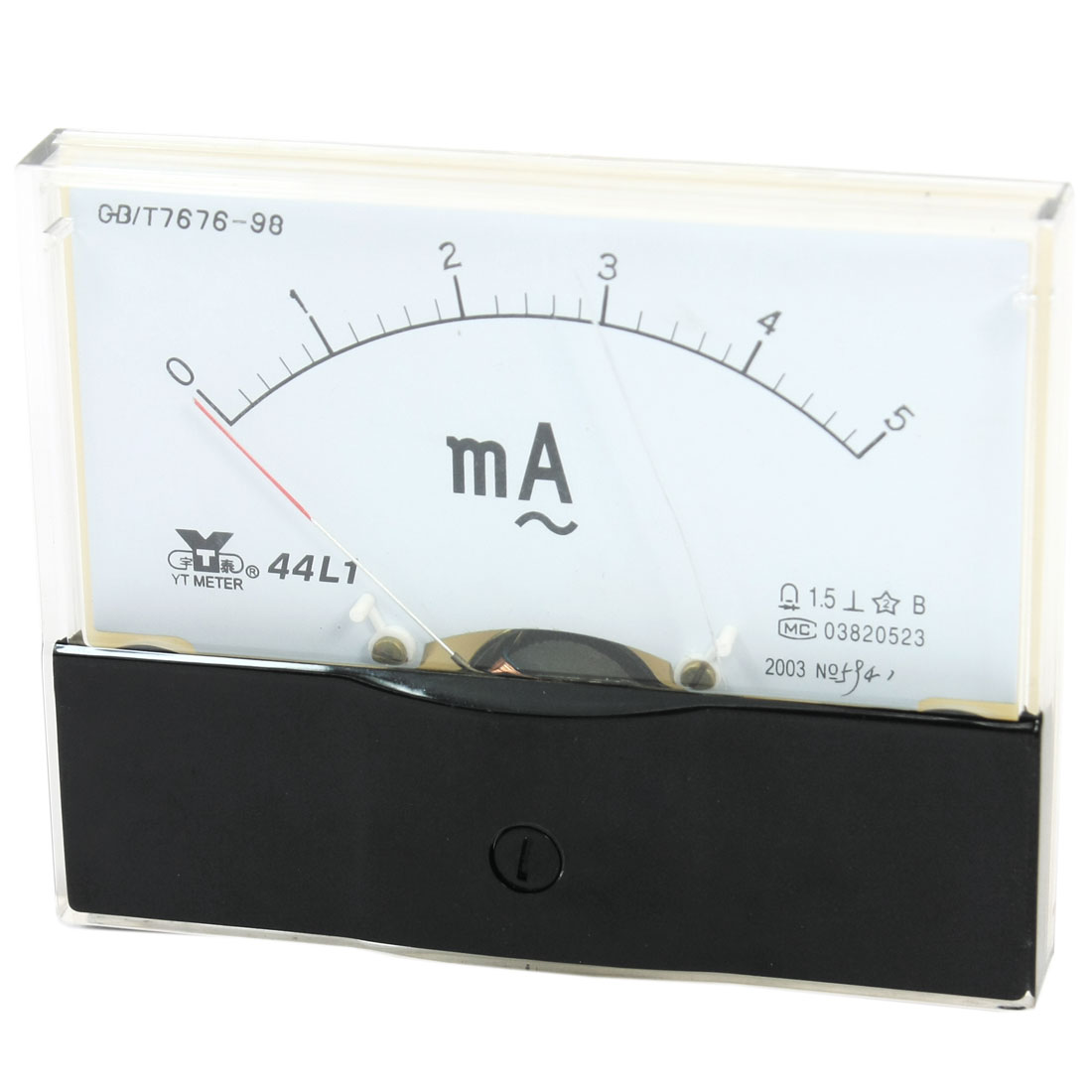 Measurement Tool Panel Mount Analog Ammeter Gauge AC 0 - 5mA Measuring Range 44L1