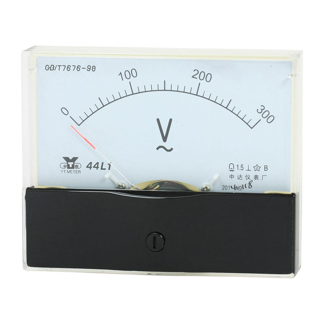 Rectangle Measurement Tool Analog Panel Voltmeter Volt Meter AC 0 - 300V Measuring Range 44L1