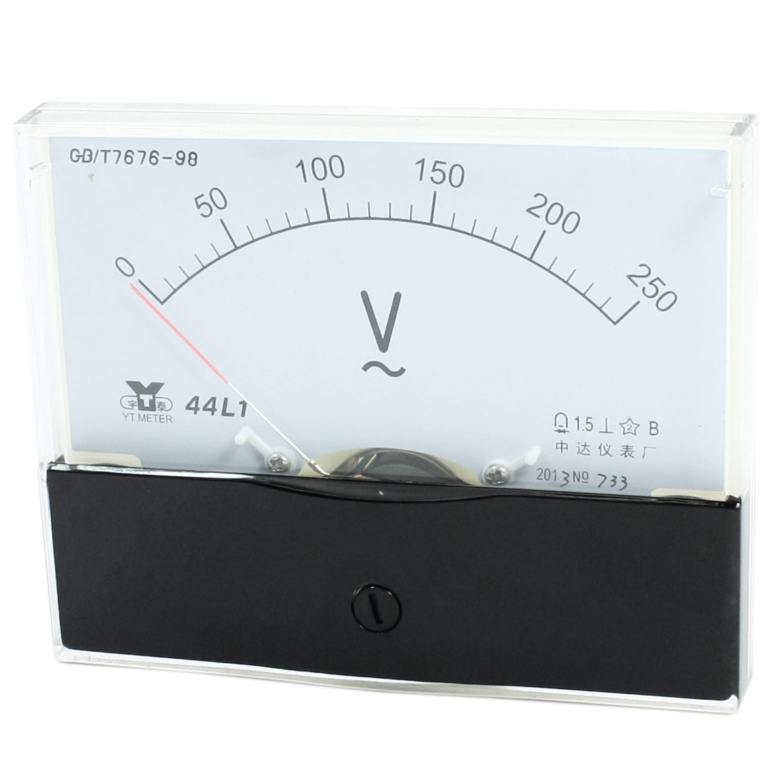 Rectangle Measurement Tool Analog Panel Voltmeter Volt Meter AC 0 - 250V Measuring Range 44L1