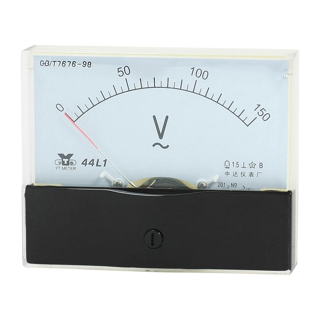 Rectangle Measurement Tool Analog Panel Voltmeter Volt Meter AC 0 - 150V Measuring Range 44L1