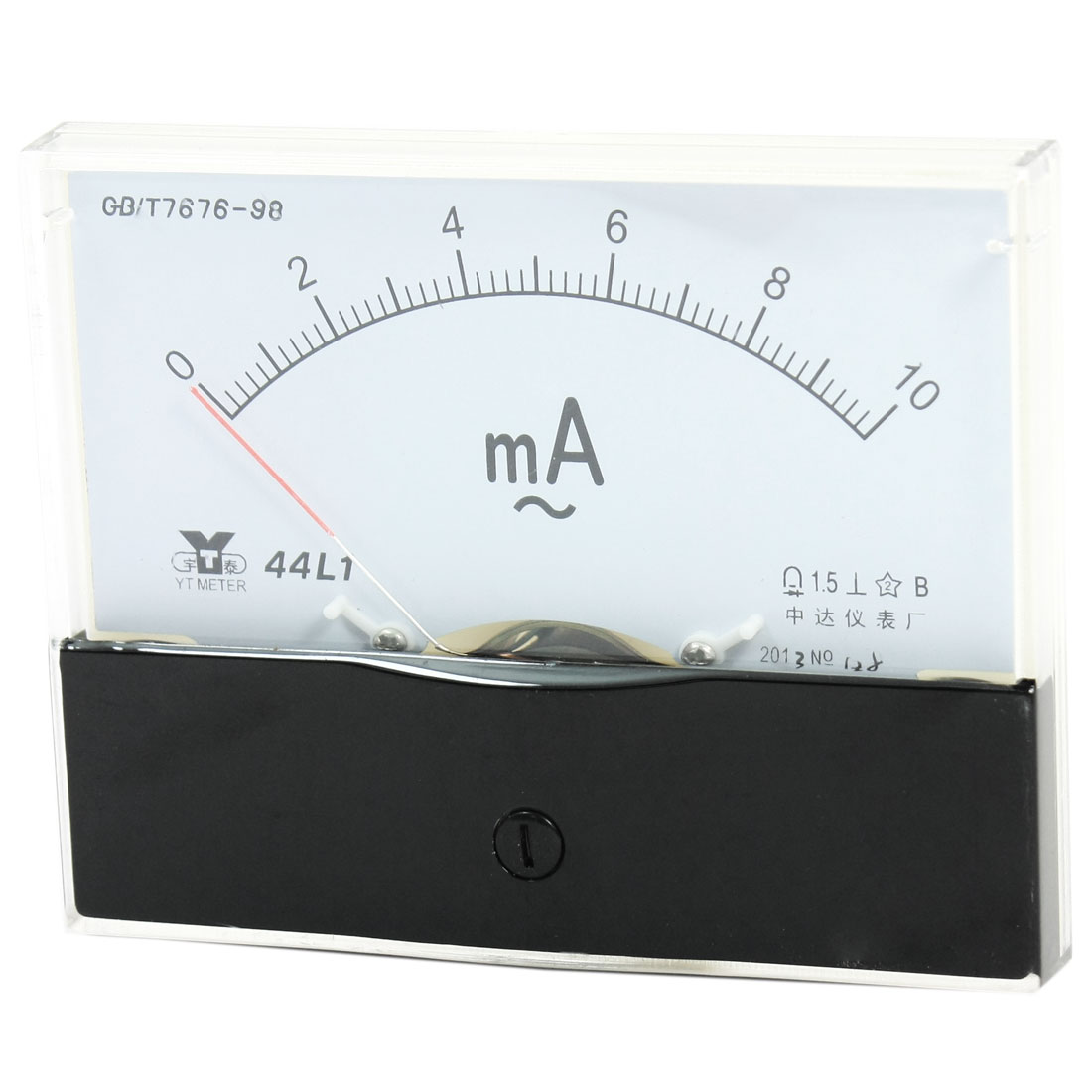 Measurement Tool Panel Mount Analog Ammeter Gauge AC 0 - 10mA Measuring Range 44L1