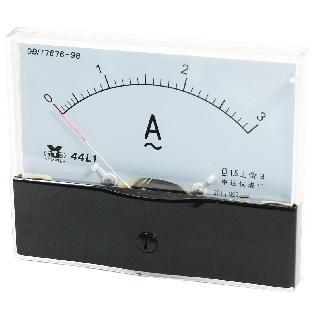Measurement Tool Panel Mount Analog Ammeter Gauge AC 0 - 3A Measuring Range 44L1