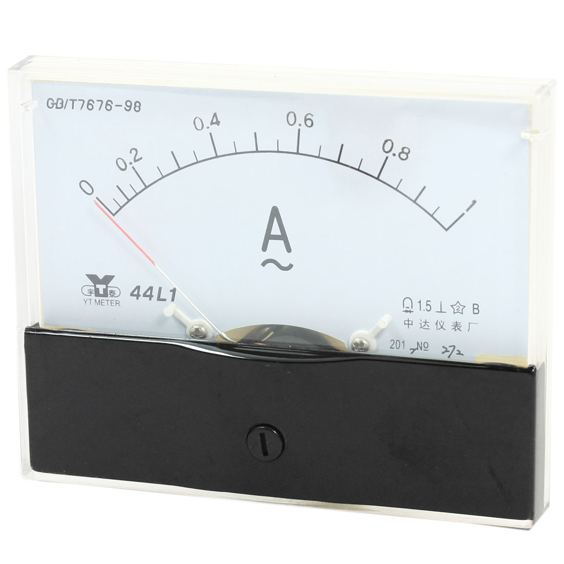 Measurement Tool Panel Mount Analog Ammeter Gauge AC 0 - 1A Measuring Range 44L1
