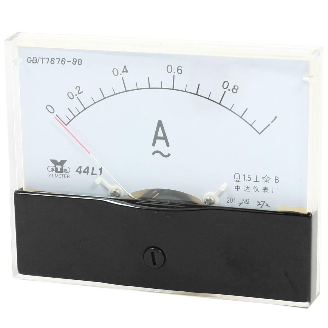 Measurement Tool Panel Mount Analog Ammeter Gauge AC 0 - 1A Measuring Range 44L1