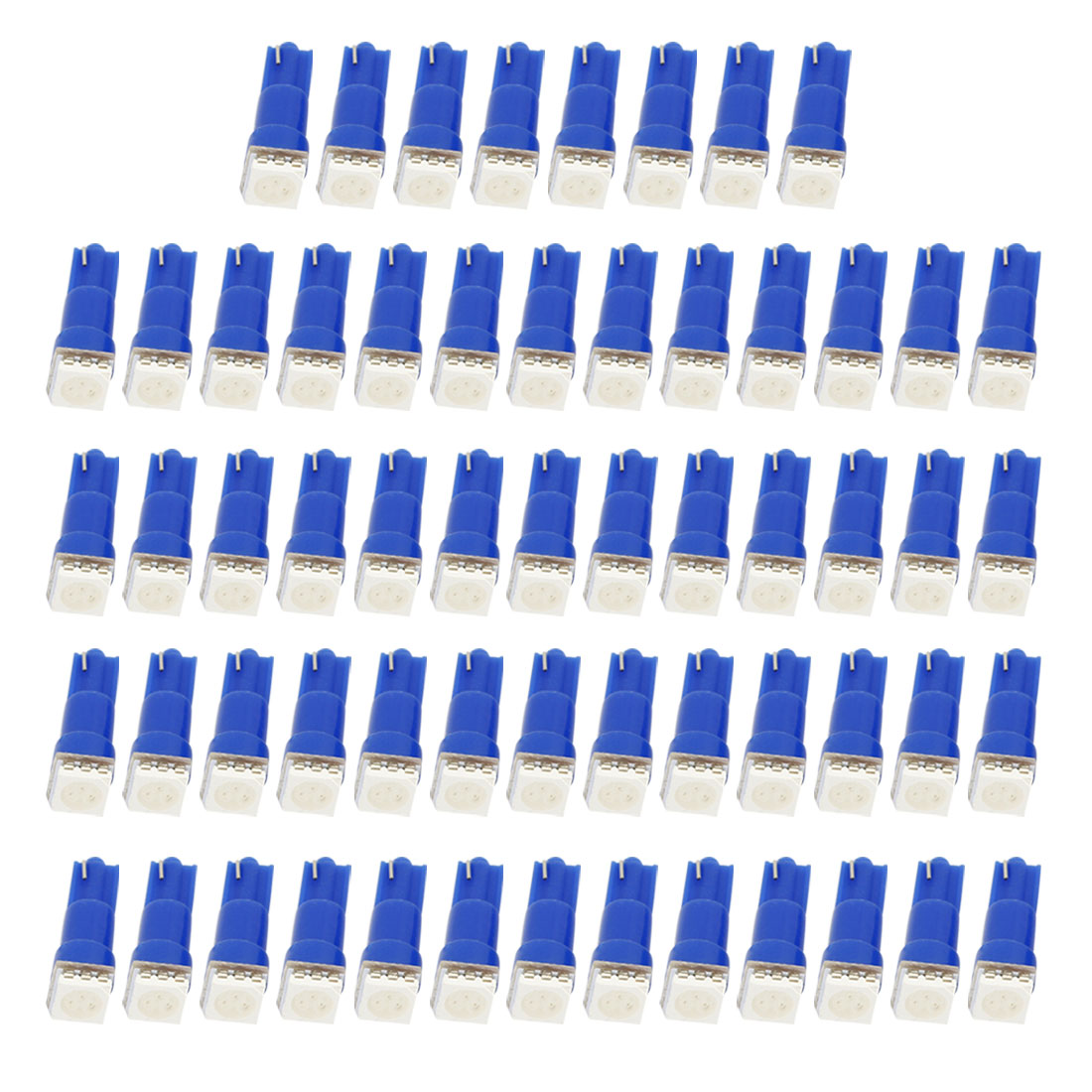Internal T5 5050 1-SMD LED Car Truck Side Lights Dashboard Lamps Signal Bulbs Blue 60 Pcs