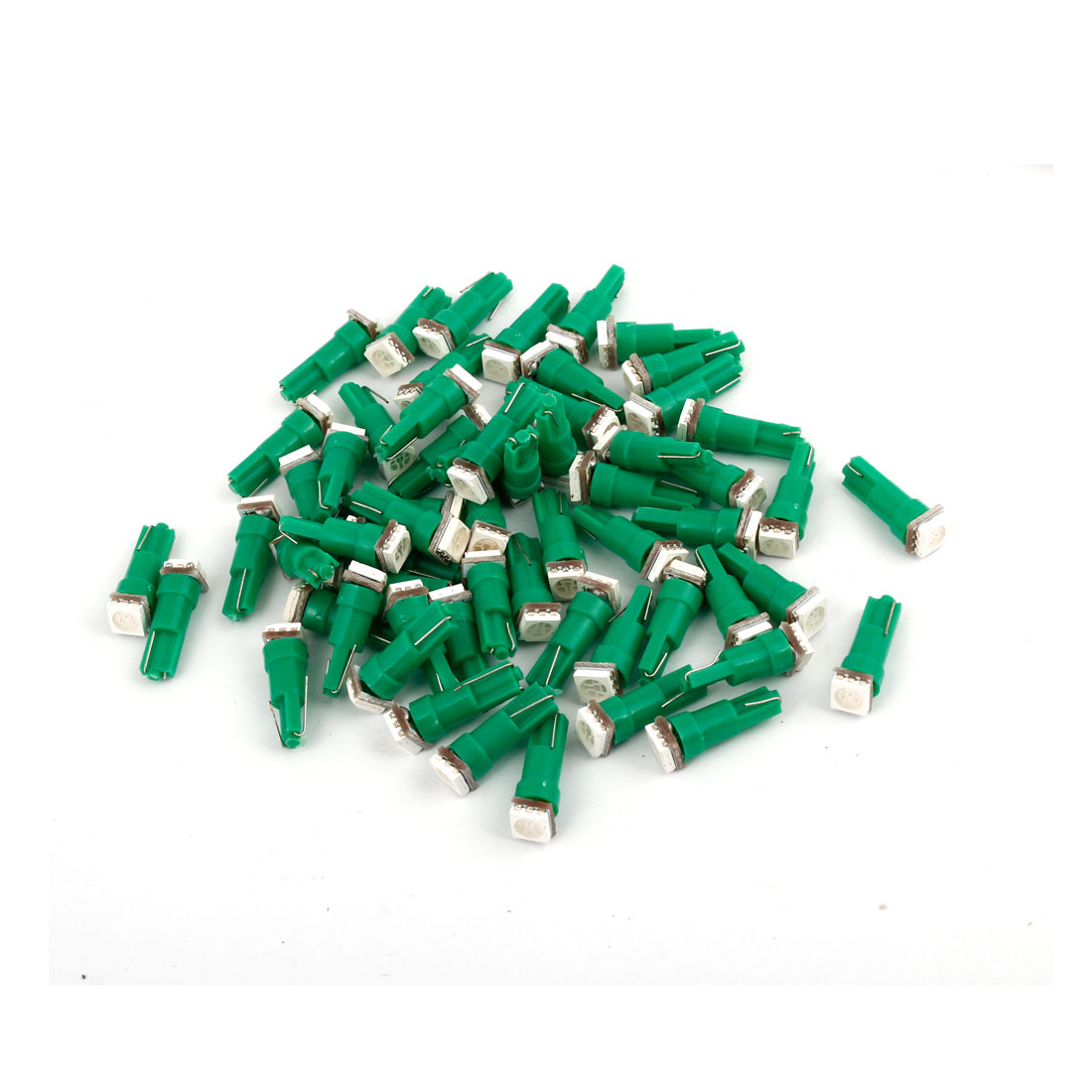 60 Pcs T5 5050 SMD LED Dashboard Gauge Light Bulbs Green 12V for Car Vehicle internal