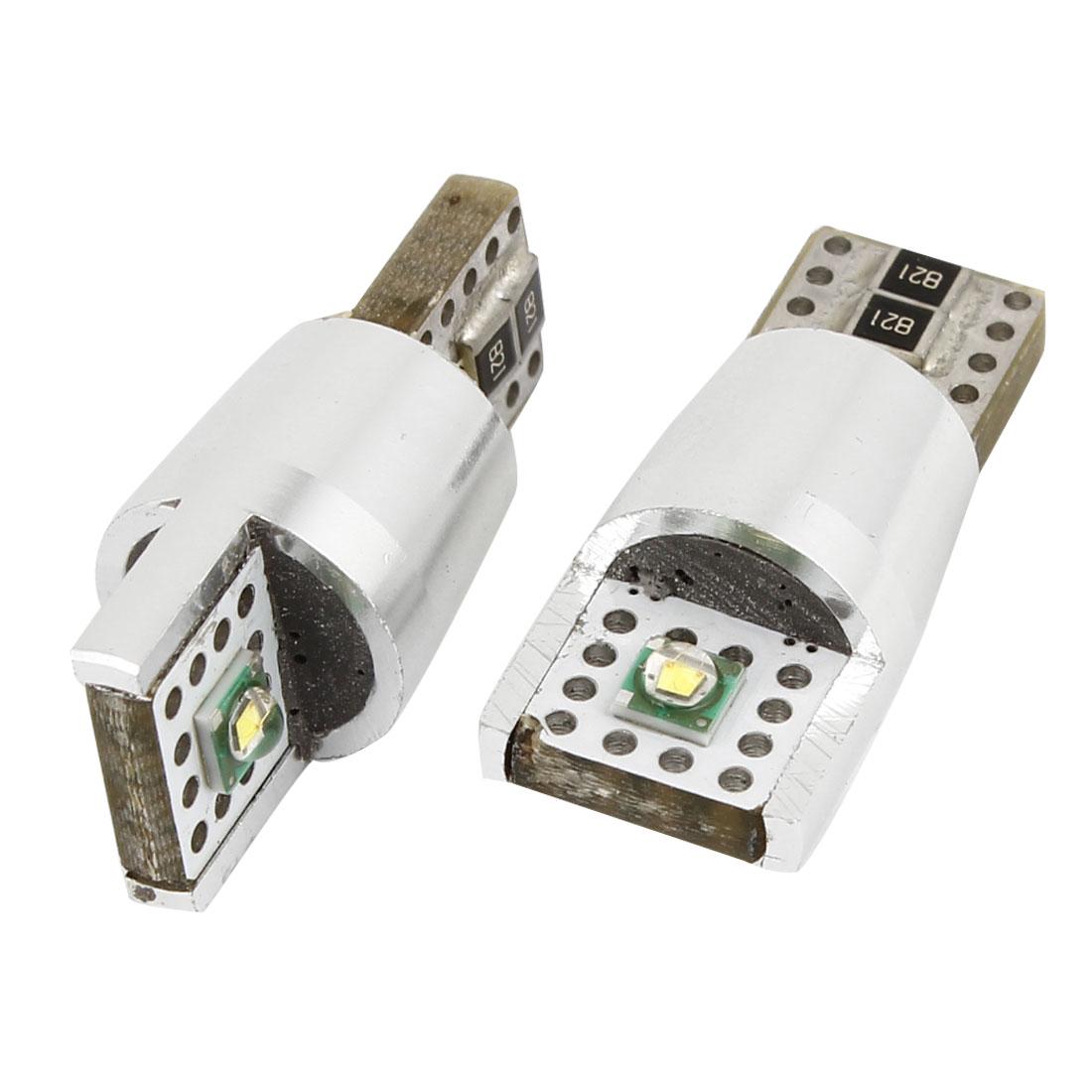 Car Cambus T10 White SMD 2 LED Wedge Light Signal Turn Dash Lamp Bulb 2PCS internal
