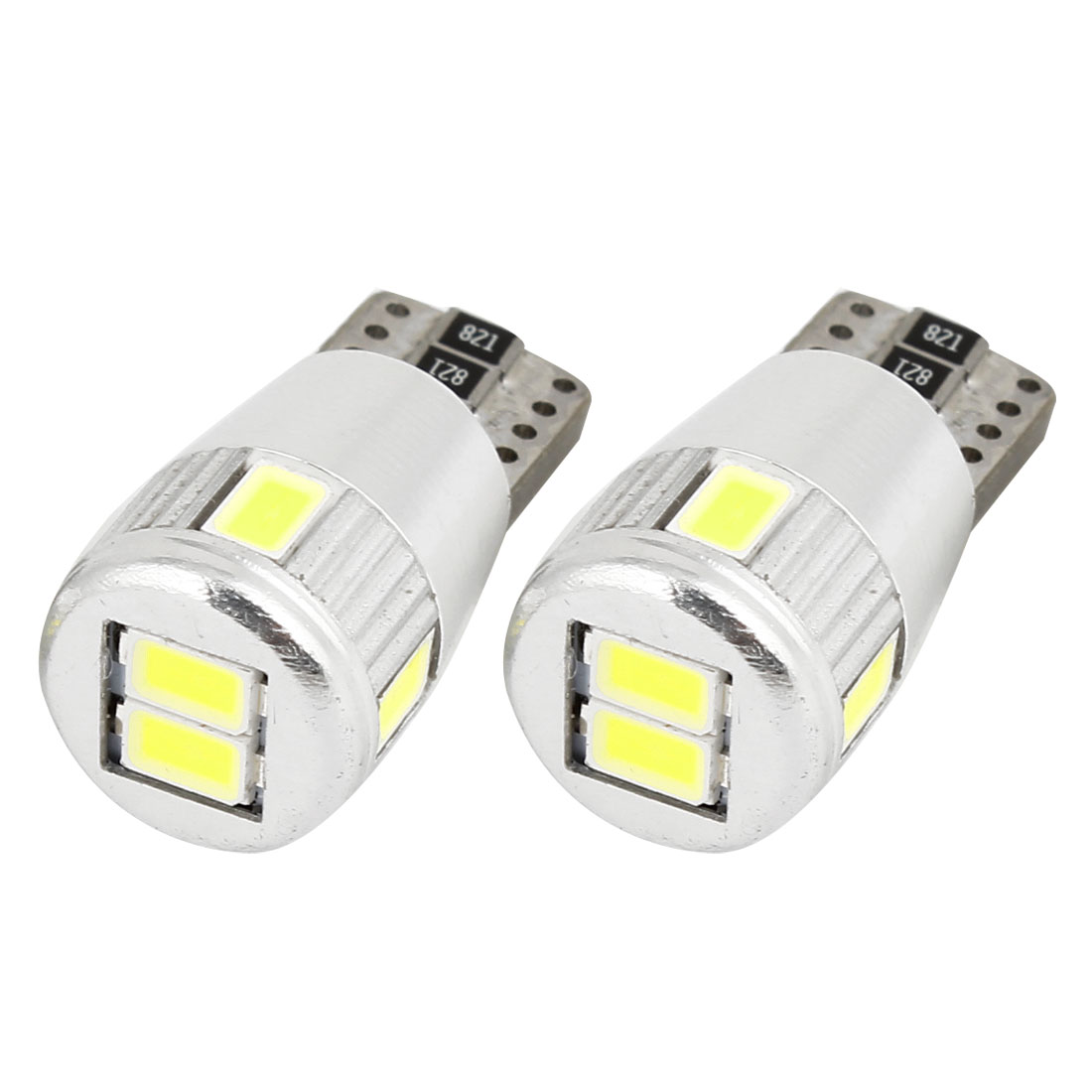 2 Pcs Car Canbus Internal T10 White 5630 SMD 6 LED Wedge Light Turning Lamp Bulb 12V