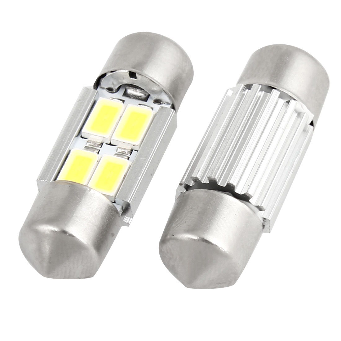 2 Pcs Cambus 31mm White 5630 SMD 4-LED Festoon Dome Light Bulbs Map Lamp internal