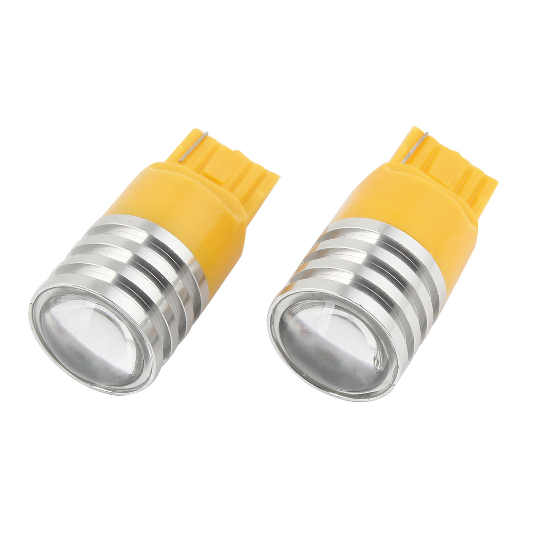 Pair Car T20 7440 SMD LED Yellow Turn Signal Light Braking Lamp Bulb 5W 12V