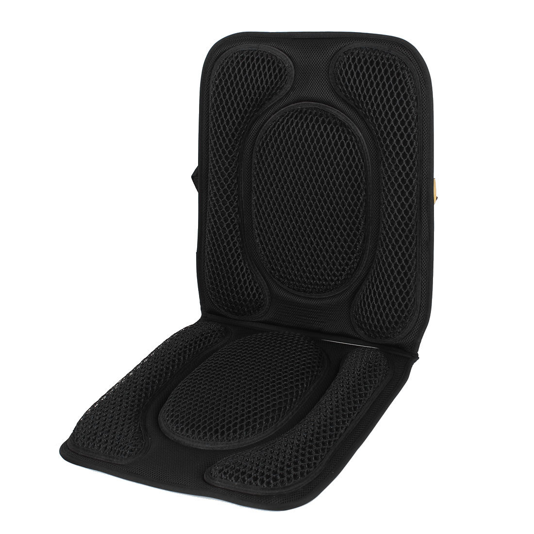 Black Nylon Mesh Design Car Vehicle Seat Cushion Pad Cover Slip on 100cm x 40cm