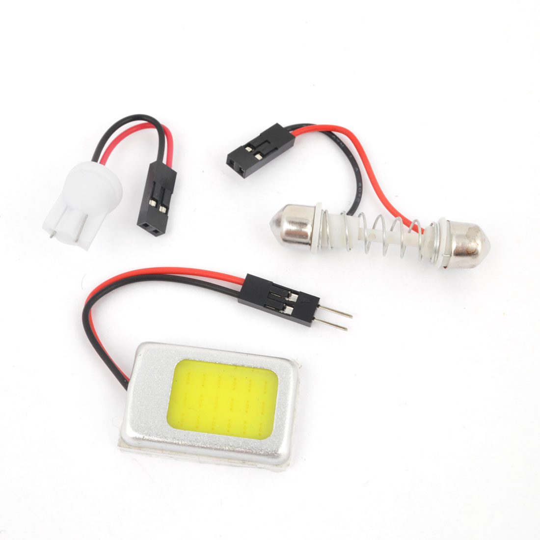 Internal Auto Car Interior White 18 COB LED Dome Lamp Panel + T10 Festoon Adapter