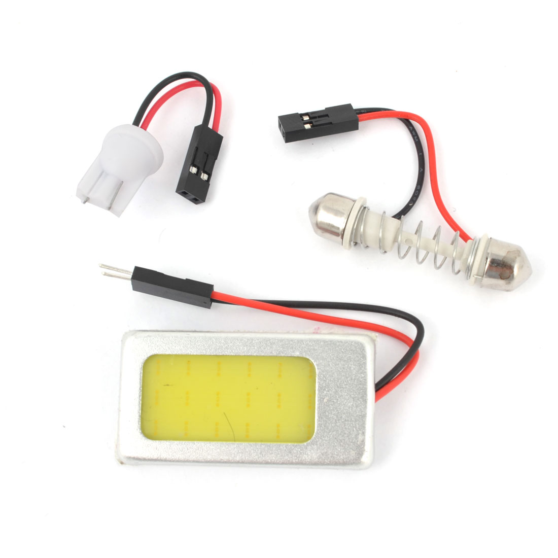 Internal Auto Interior White 21 COB LED Dome Lamp Panel + T10 Festoon Adapter