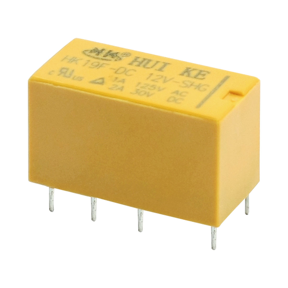HK19F-DC12V-SHG DC 12V Coil DPDT 8Pin PCB in Mounting General Purpose Realplay Power Relay Yellow