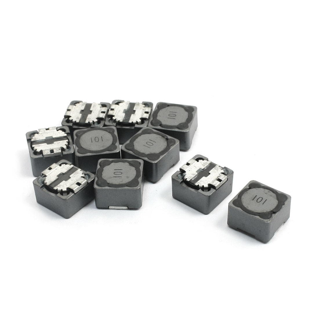 100uH 1.7A Gray Square Surface Mounting SMT SMD Power Inductor 12mm x 12mm x 7mm 10Pcs