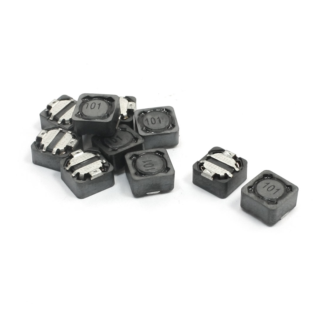 100uH 1A Gray Square Surface Mounting SMT SMD Power Inductor 7mm x 7mm x 4mm 10Pcs
