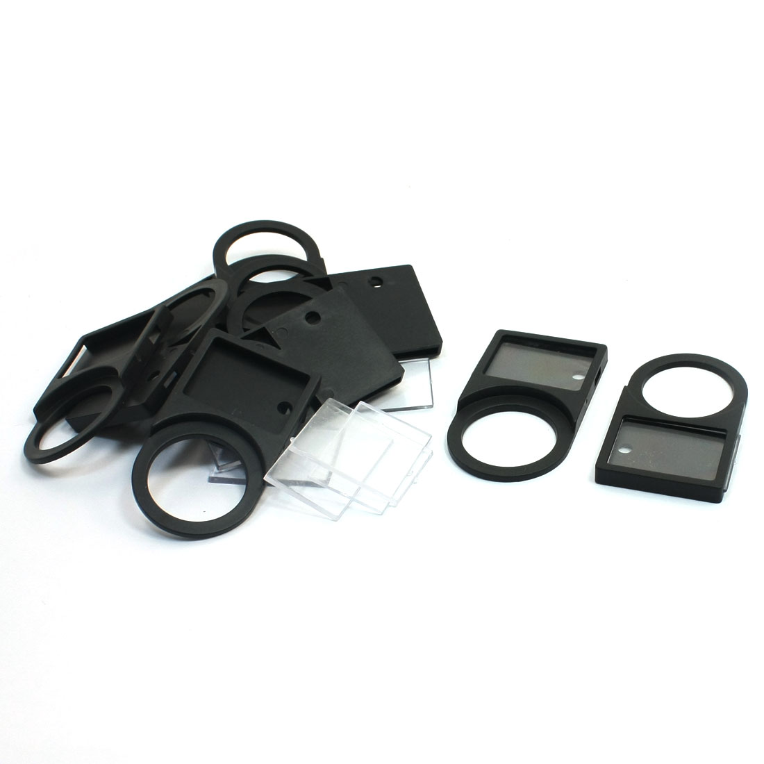 10 Pcs Black Plastic Push button Switch Panel Label Frame Holder 22mm