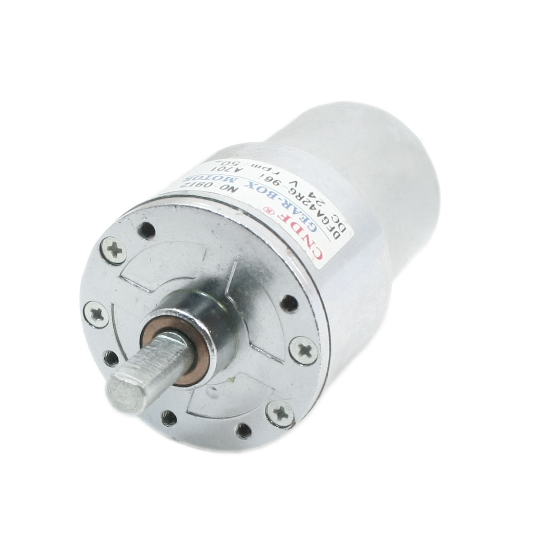 DFGA42RG DC 24V 50RPM 7mm Dia Shaft 88mm Long Connector 3mm Thread Hole Dia Magnetic Gear Box Electric Motor