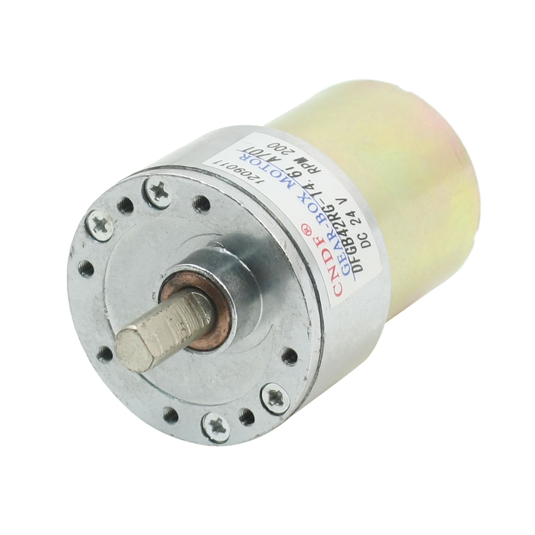 Cylindrical 2.5mm Thread Hole Dia Magnetic Gear Box Motor DC24V 200RPM