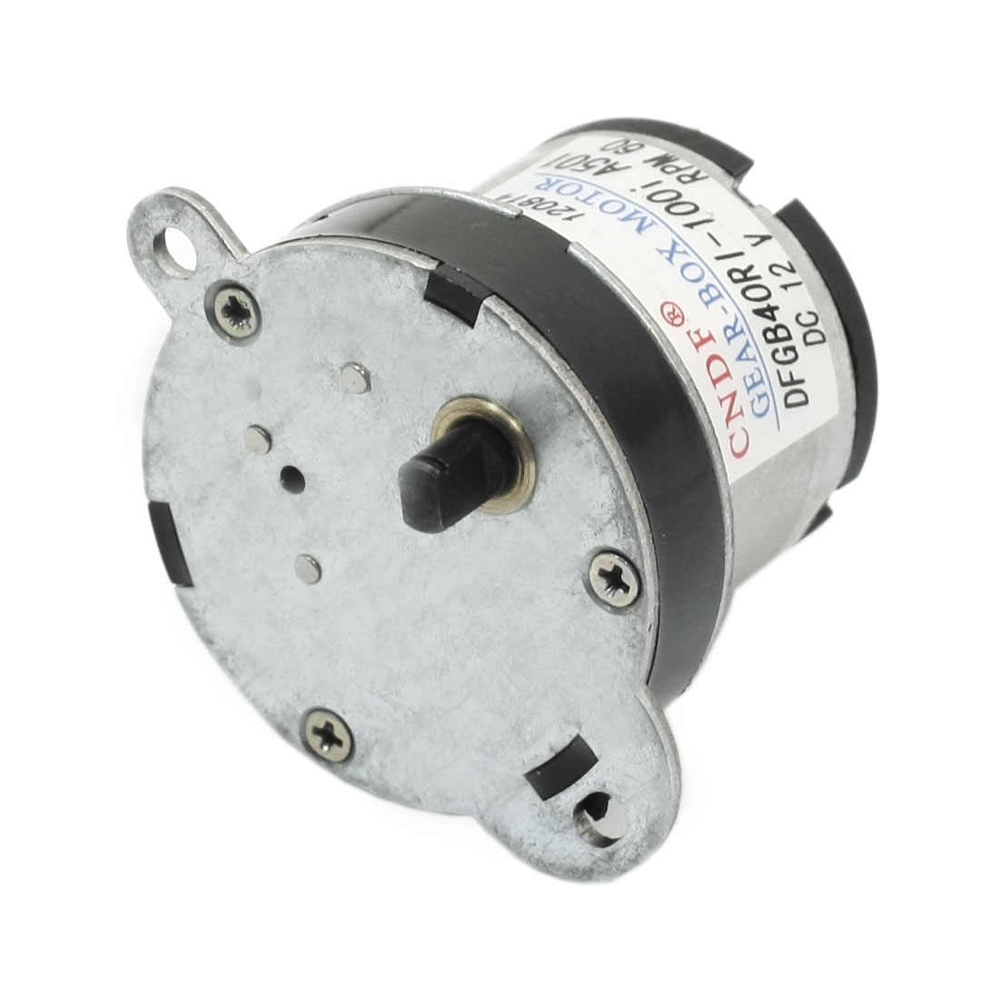 DC12V 60RPM 45mm Height Metal Plastic Gearbox Motor
