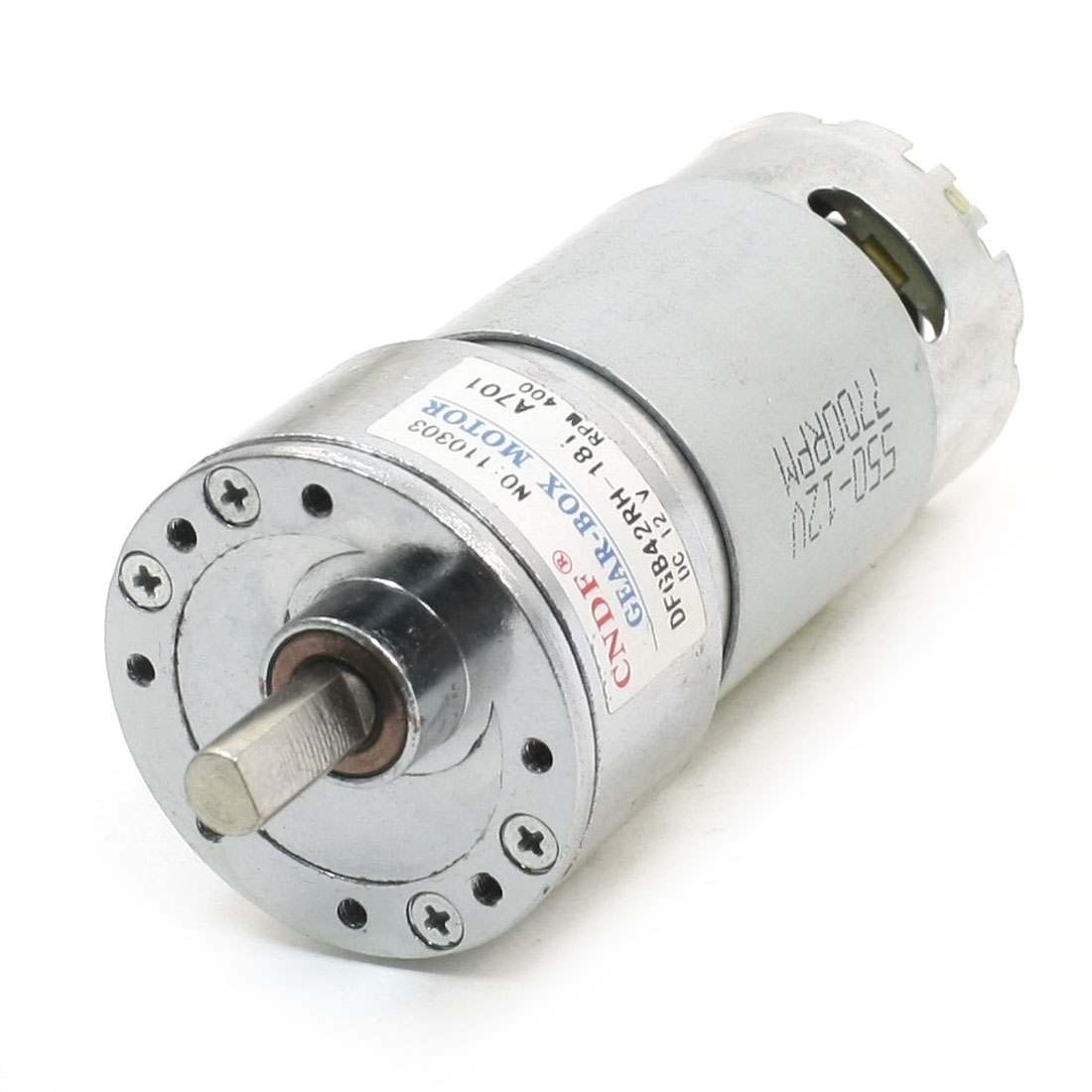 DC12V 400RPM No-load Rotation Speed 110mm Length Magnetic Gearbox Motor