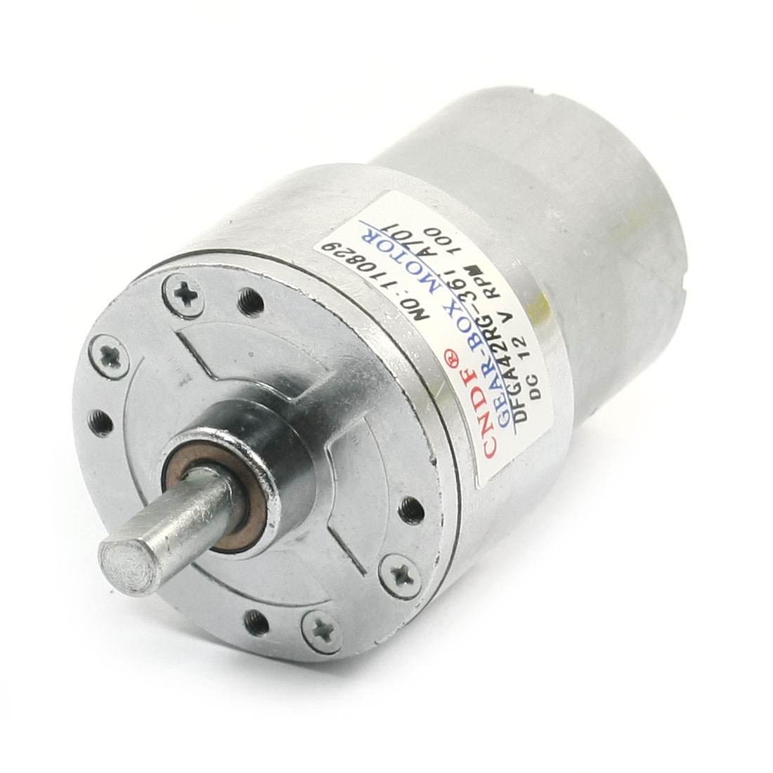 DC12V 0.052A No-load 100RPM 15 x 7mm Shaft 78mm Long Gearbox Motor