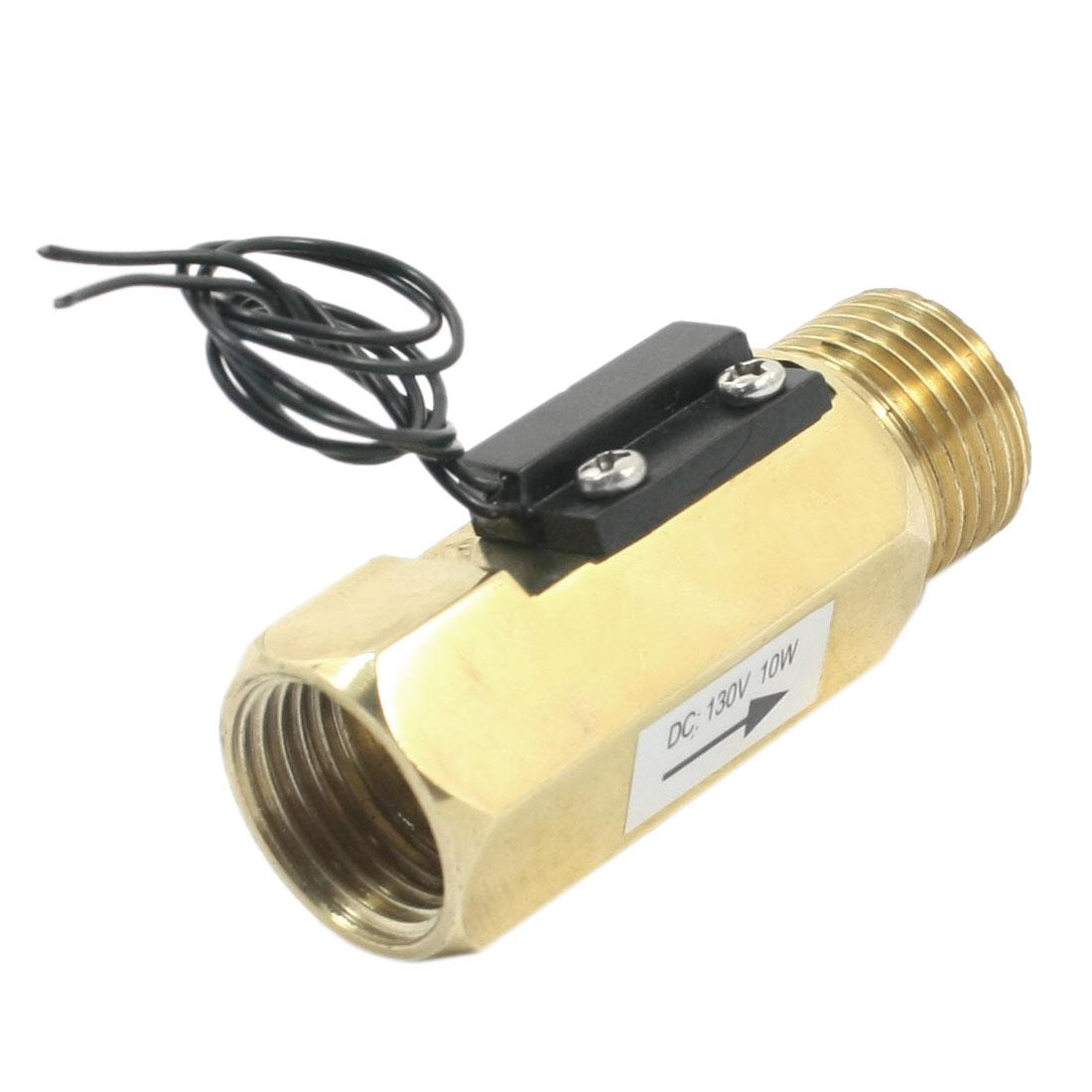 SEN-ZL21F G1/2 M/F Threaded 10W 10mA Gravity Brass Water Flow Switch Flowmeter