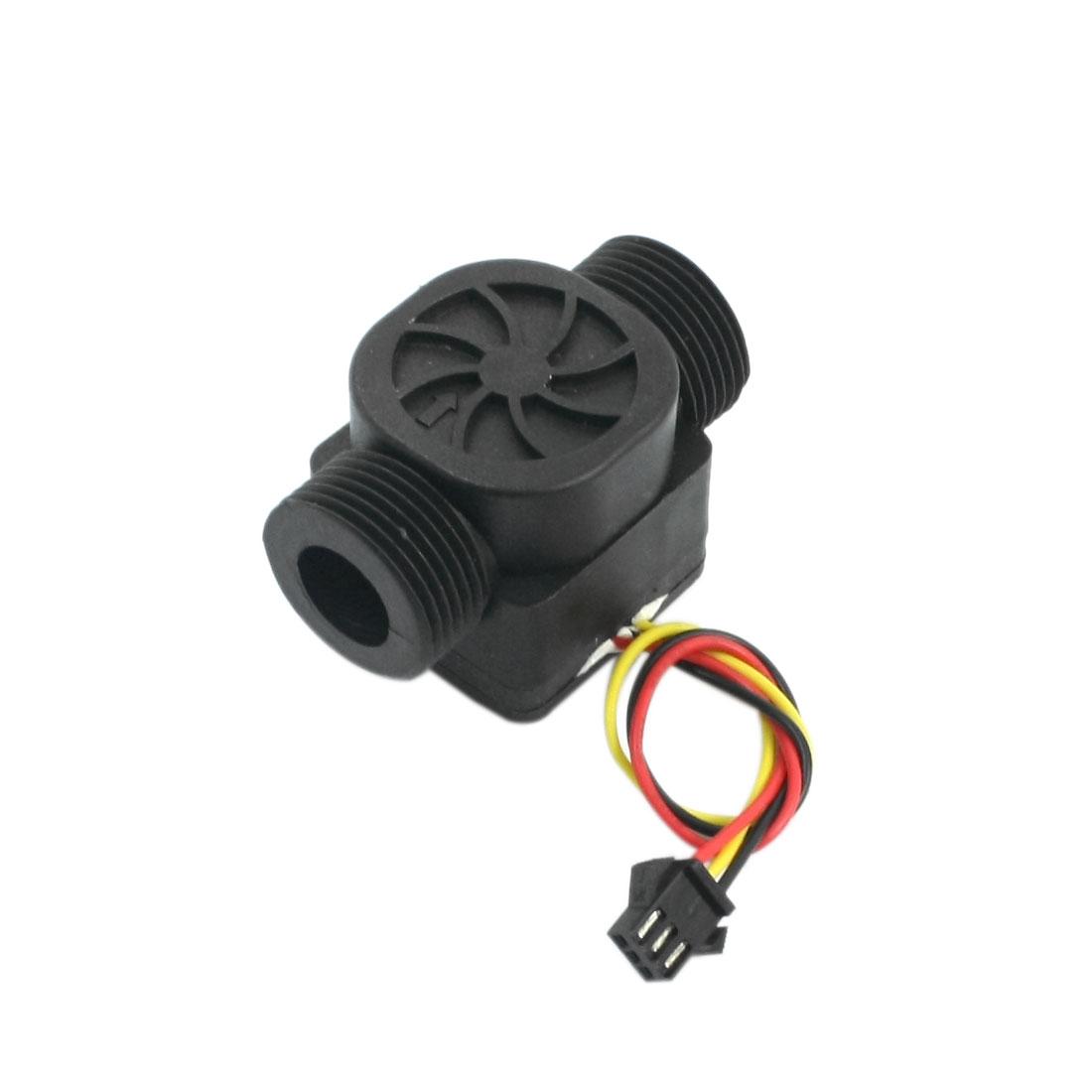 SEN-HZ43WA 1-60L/min G3/4 Male Thread Hall Flow Sensor Water Control Flowmeter