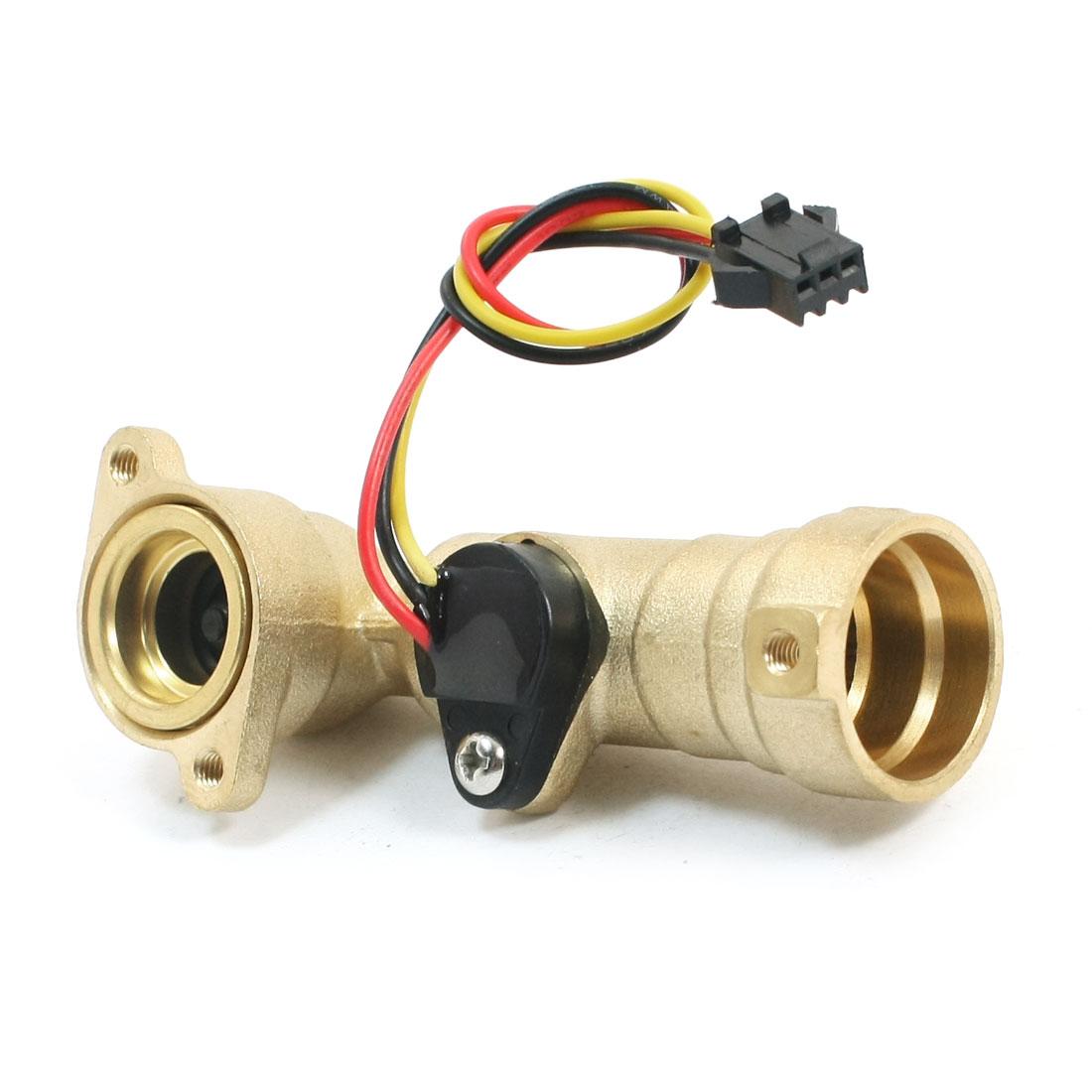 SEN-HW21RA G1/2 Inner Hole Dia 1-30L/min Hall Effect Water Flow Sensor Switch Flowmeter