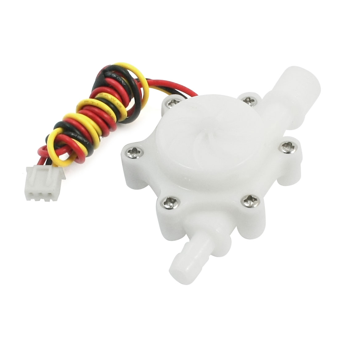White 0.8Mpa G1/4 Wired Hall Effect Water Flow Sensor 0.15-1.5L/min