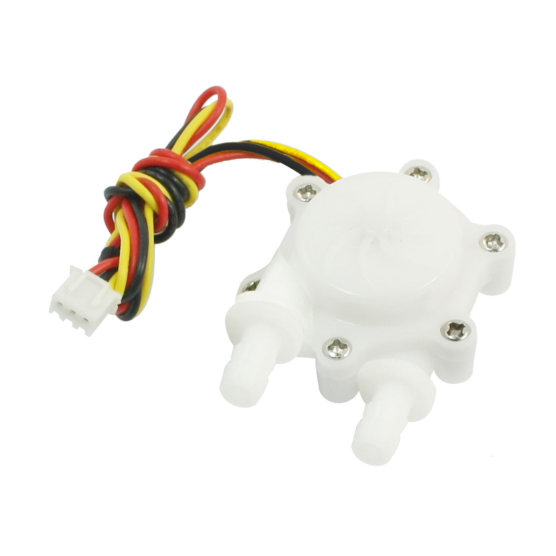 One Way 360 Degree 6mm Inlet Outlet Outer Dia Water Flow Sensor 0.2-2.5L/min