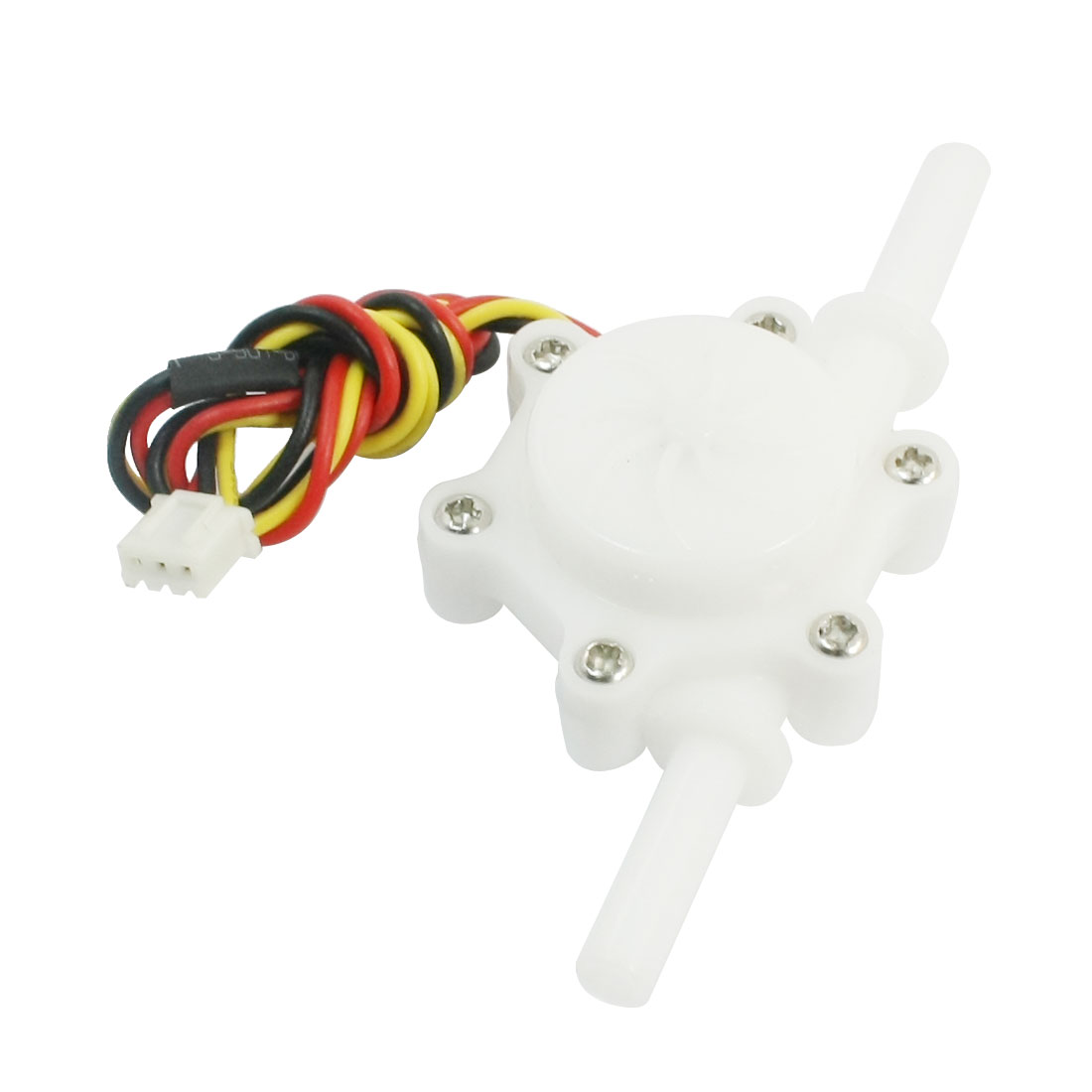 Straight 6mm Ports Outer Dia Hall Water Flow Sensor 0.2-2.5L/min 0.8Mpa